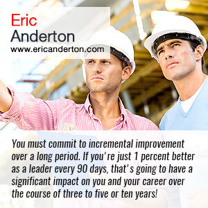 You must commit to incremental improvement over a long period